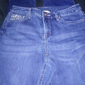 Christopher Banks Jeans Tapered Pocket Bling SZ 8